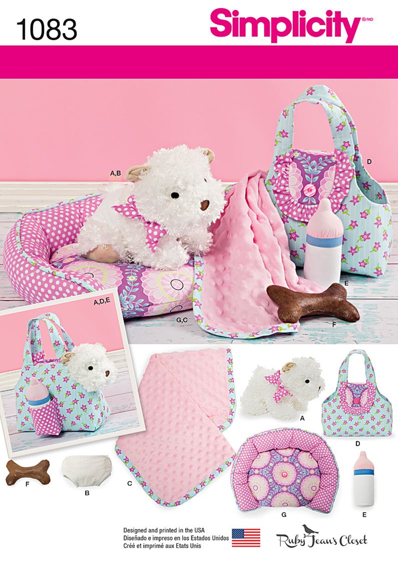 Simplicity 1083 stuffed puppy accessories for 1083 3