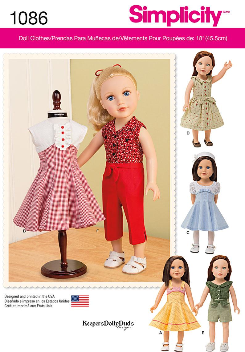18 Doll Clothes Patterns Custom Design