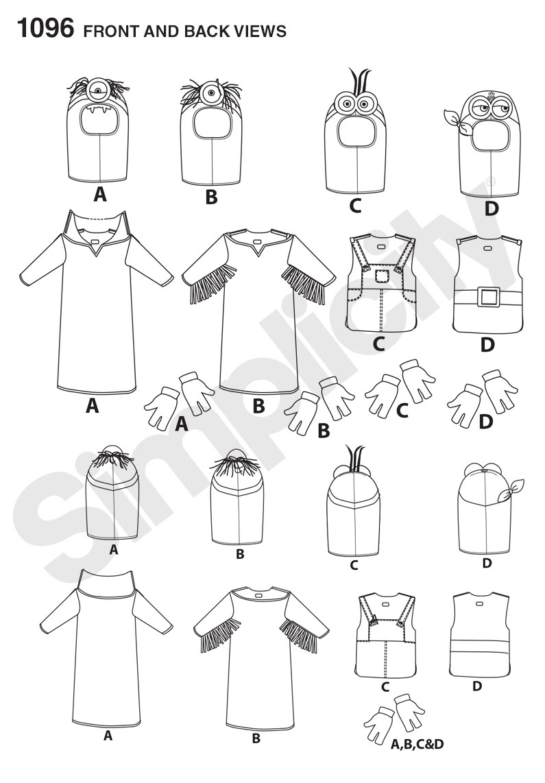 Simplicity 1096 Child\'s Minion Costumes