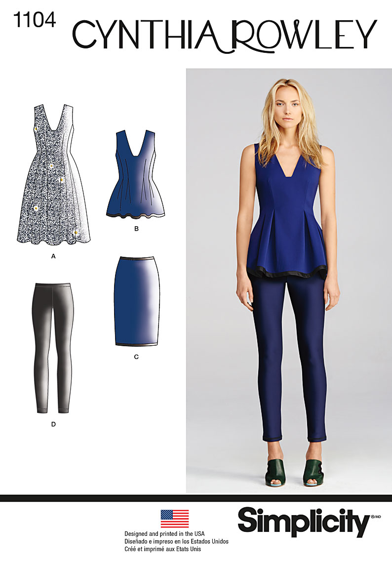 Simplicity 1104 Misses Separates Cynthia Rowley Collection