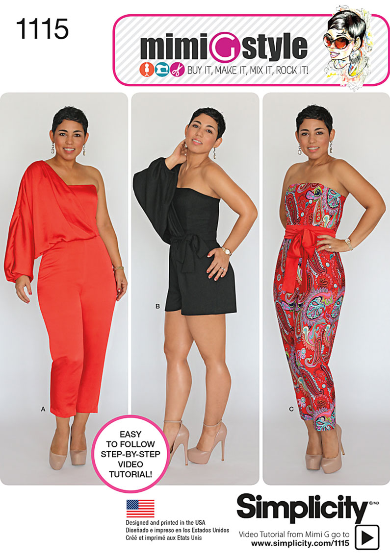 Simplicity 1115 misses long or short jumpsuit from mimi g this jeuxipadfo Images