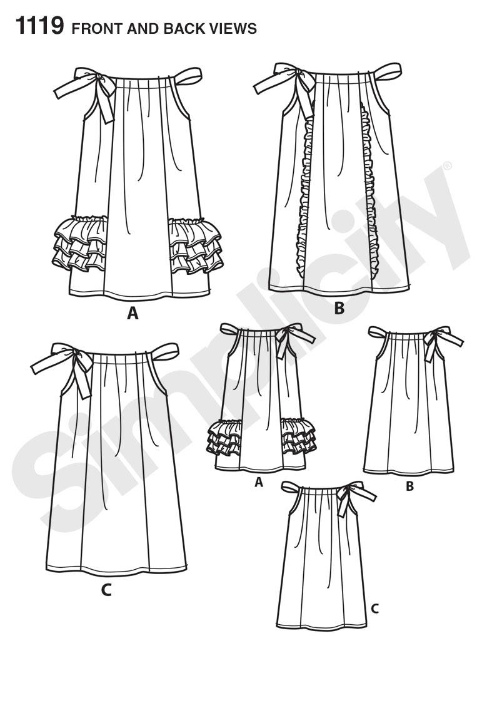 Simplicity 1119 Children S Pillowcase Dresses