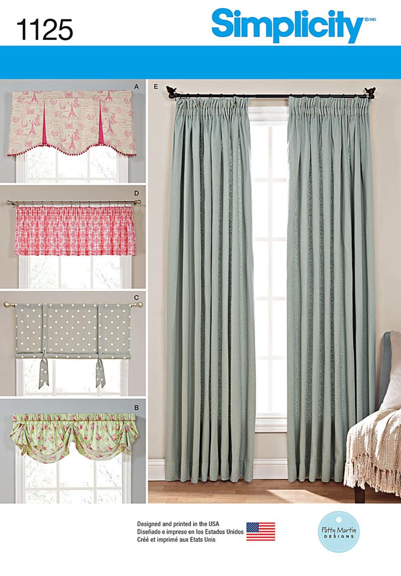 simplicity 1125 window treatments