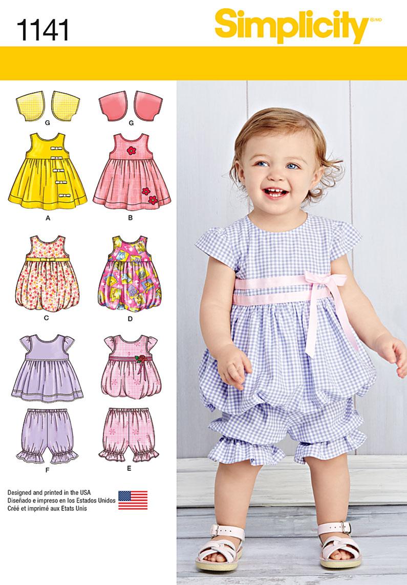 Simplicity 1141 Babies Dresses