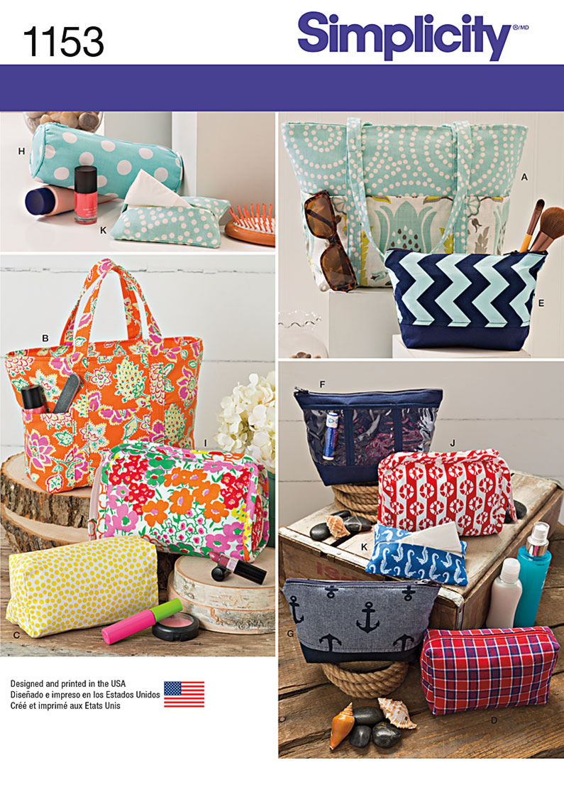 Simplicity 1153 Accessory Bags In Various Sizes