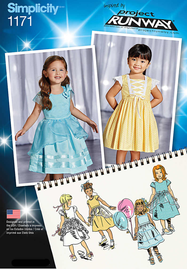 c9aceefa6c8 Simplicity 1171 Toddlers' and Child's Special Occasion Dresses