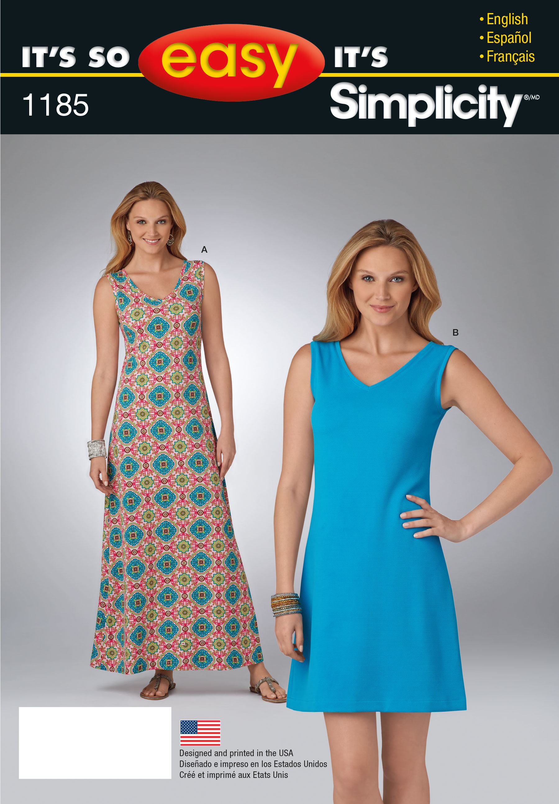 Simplicity 1185 It's So Easy Dress in Two Lengths