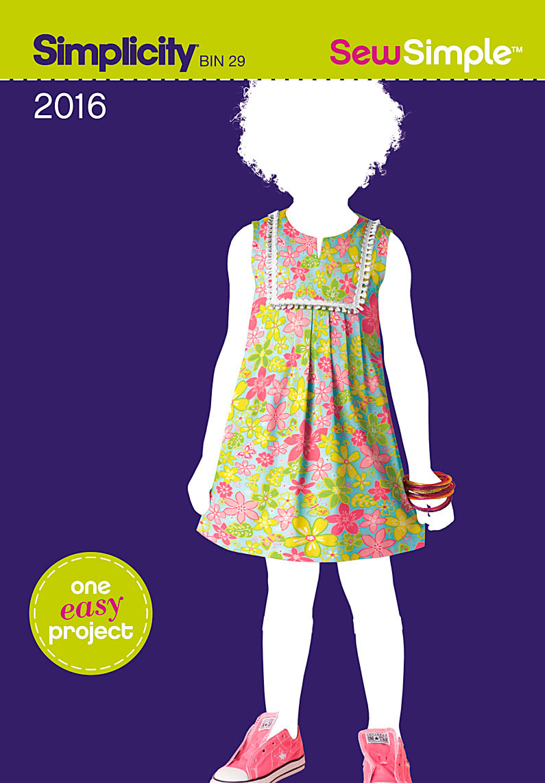 Simplicity 2016 Sew Simple Toddler S Dress