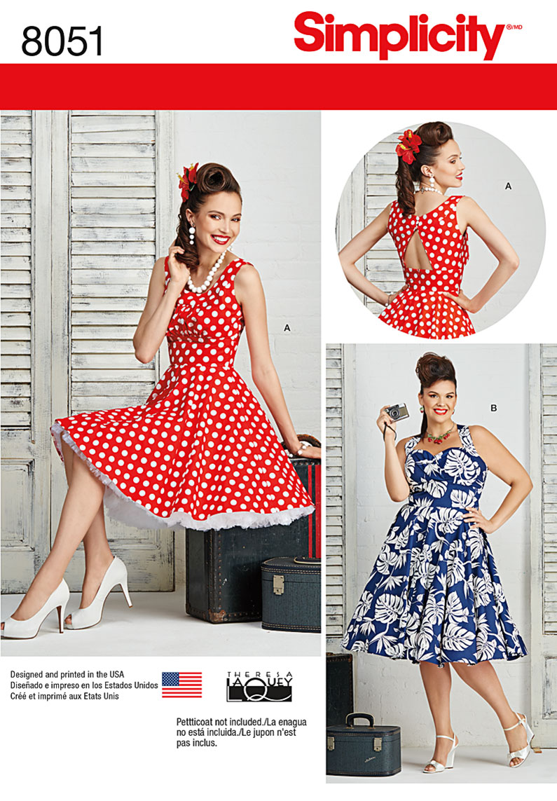 Simplicity 8051 Misses and Plus Size Dresses
