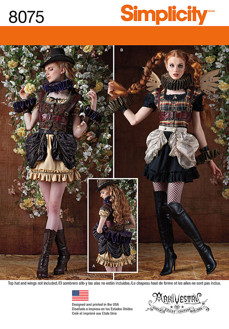 simplicity 8075 misses steampunk costumes
