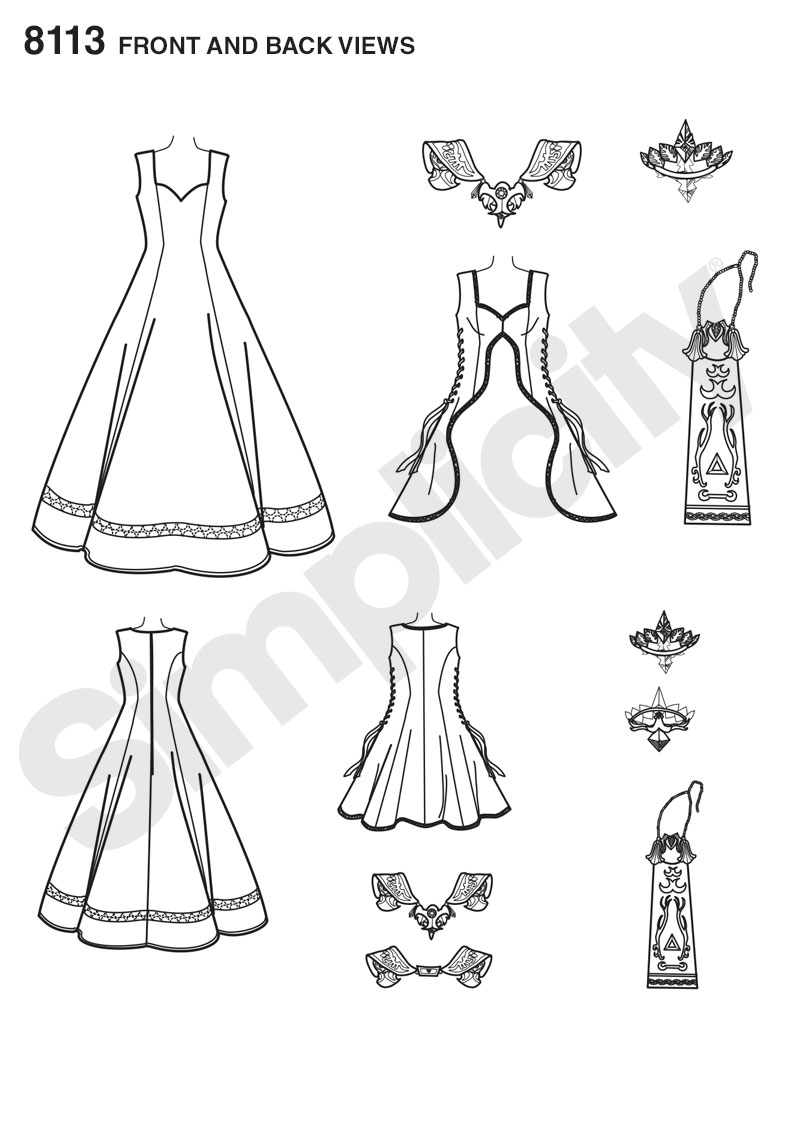 Simplicity 8113 Misses\' Costume with Craft Foam Armor, Belt & Crown