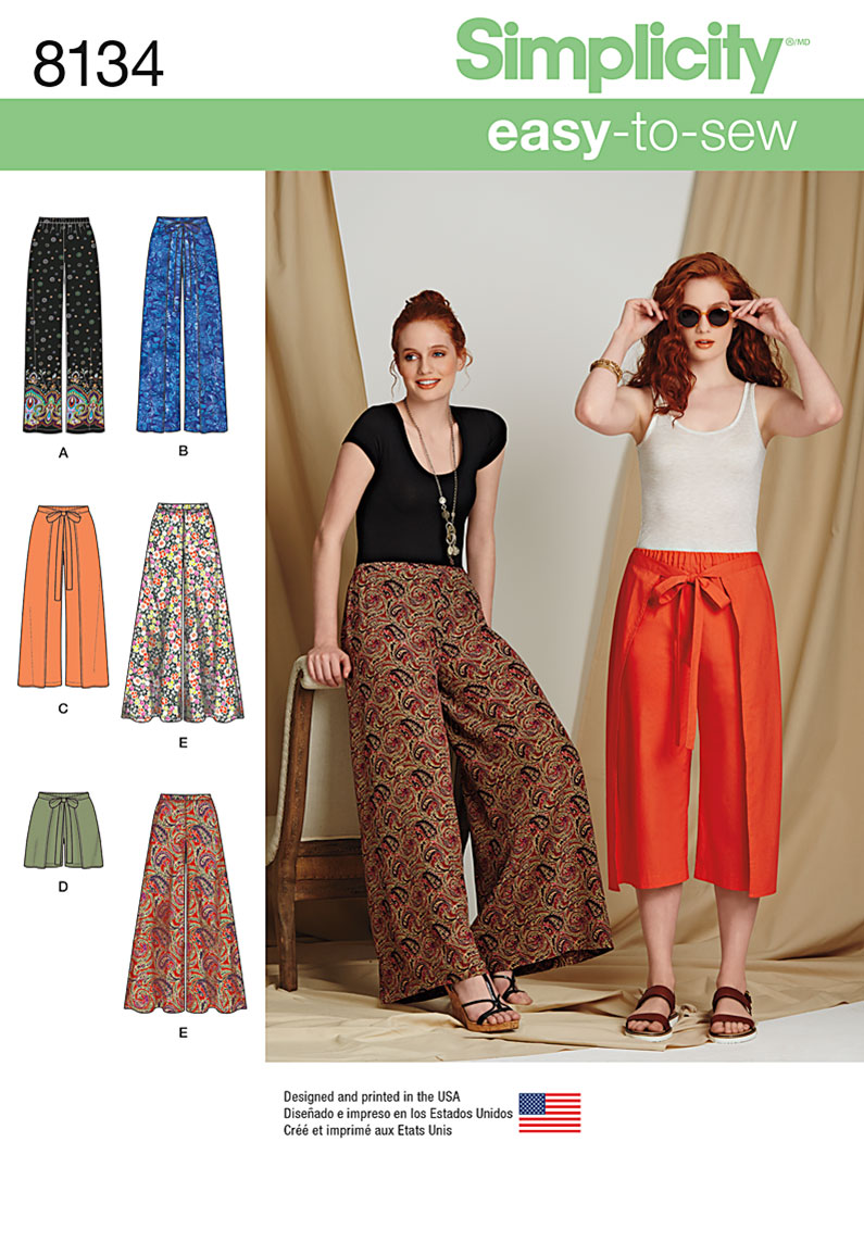 Simplicity Simplicity Pattern 8134 Misses' Easy-to-Sew Pants and Shorts