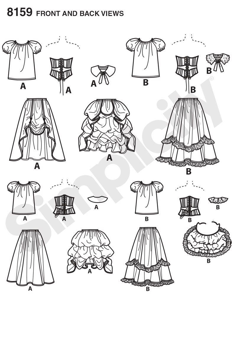 Simplicity simplicity pattern 8159 misses cosplay costumes with prevnext jeuxipadfo Gallery