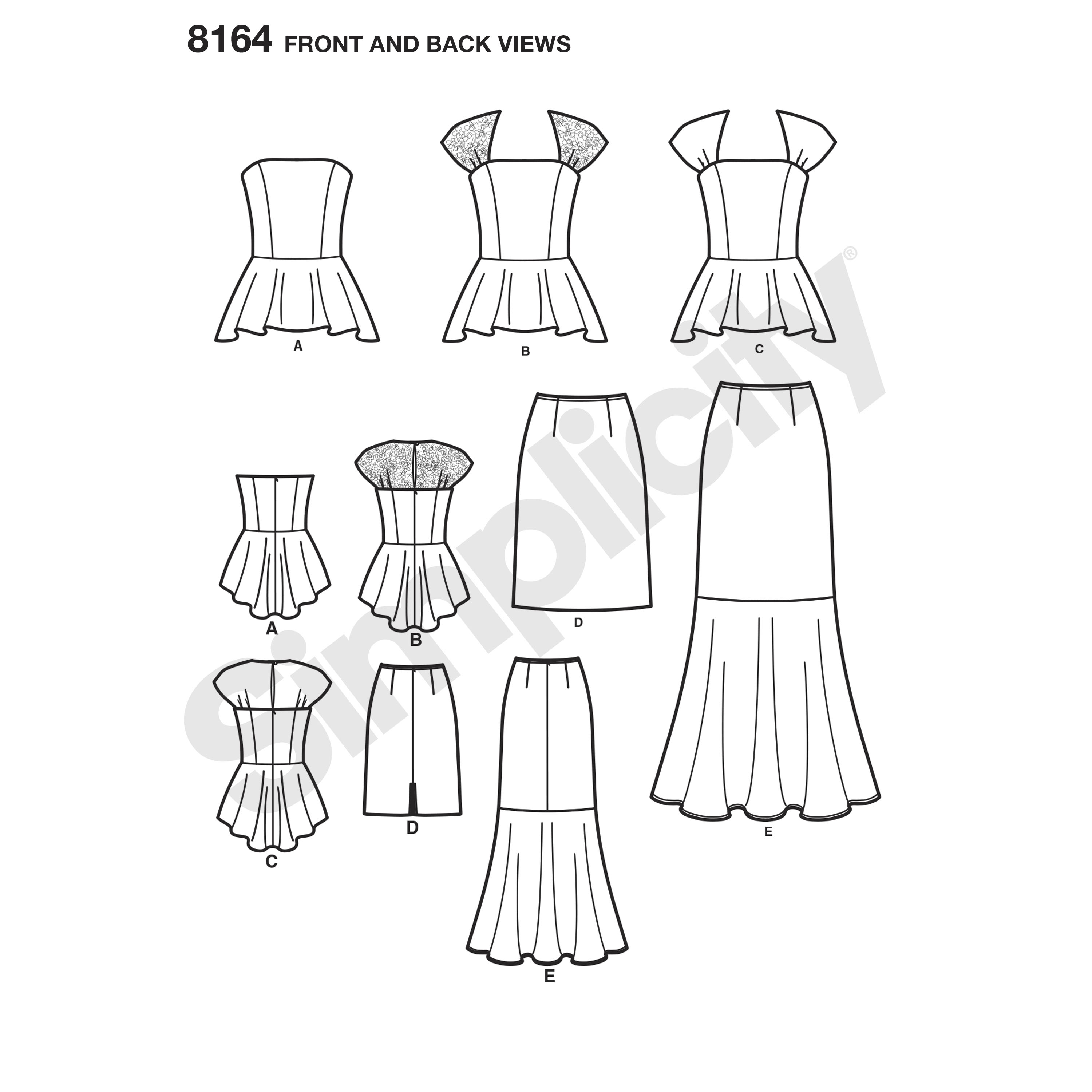 simplicity 8164 misses and petites formalwear dresses