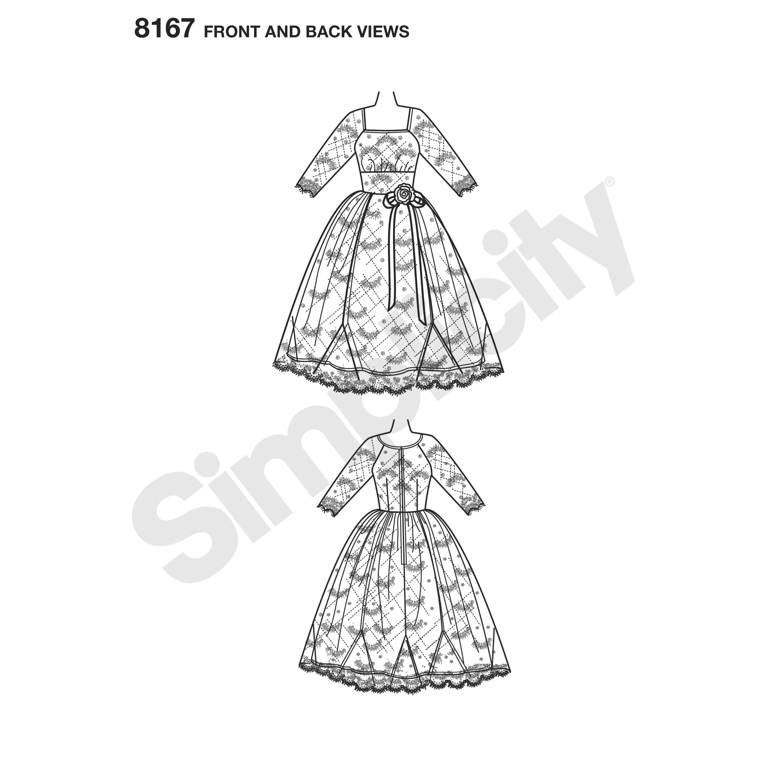 simplicity 8167 misses sew chic dress