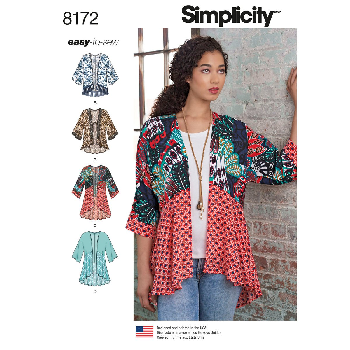 Simplicity 8172 Misses' kimonos
