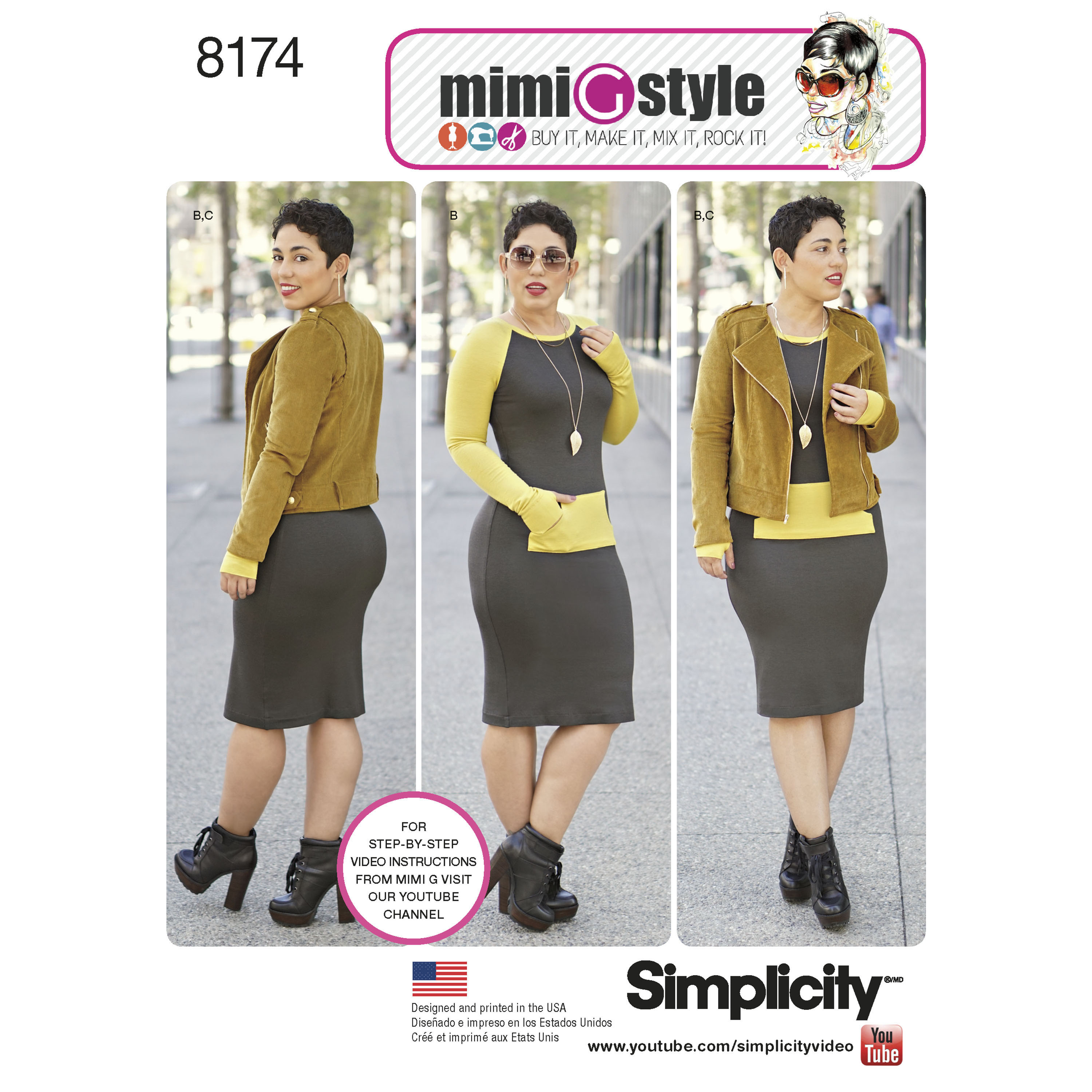 Simplicity 8174 misses dress and moto jacket from mimi g style prevnext jeuxipadfo Images