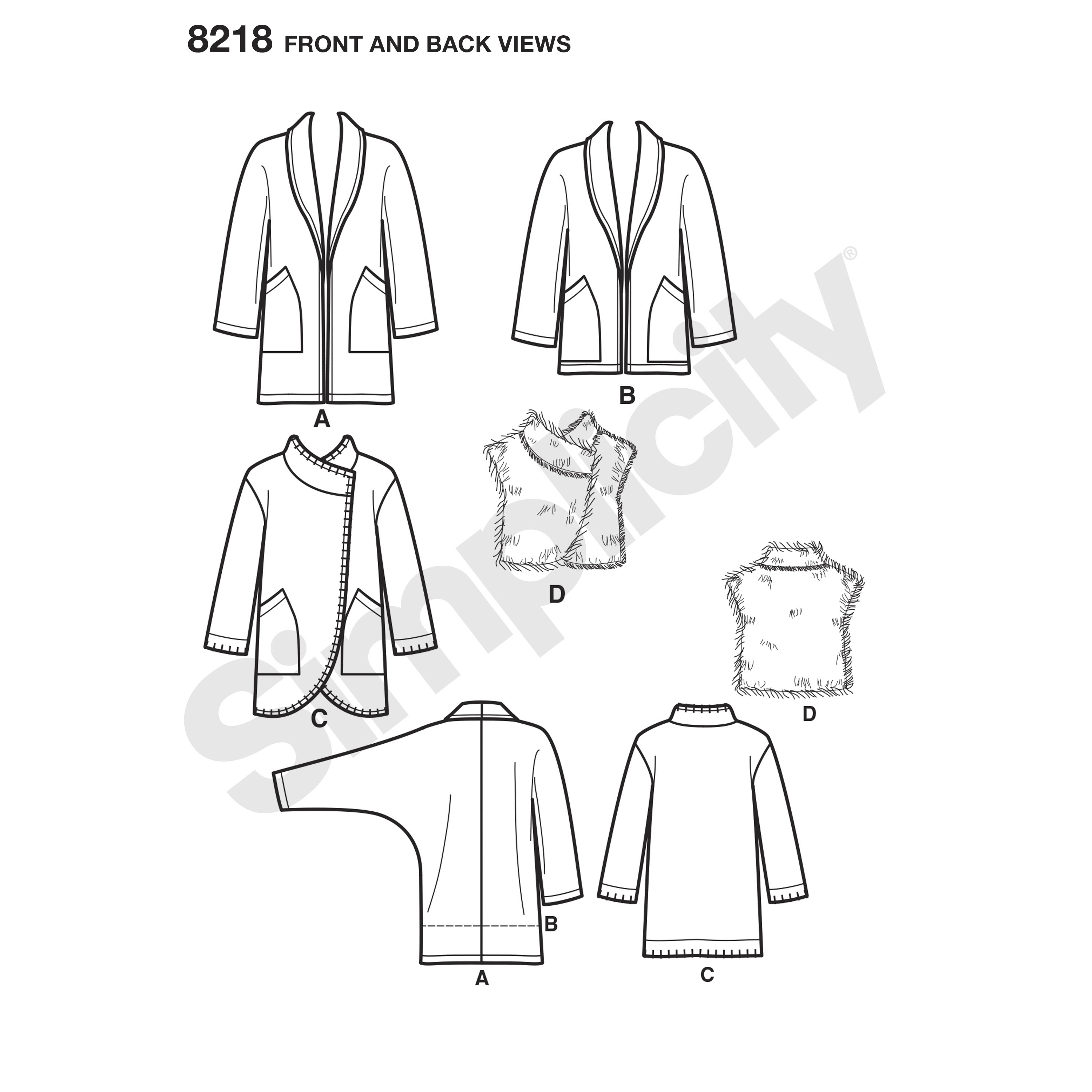 Simplicity 8218 Misses\' Easy-to-Sew Jackets and Vest