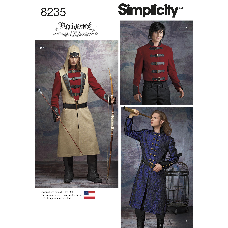 Simplicity 8235 Men's Cosplay Costume Pattern