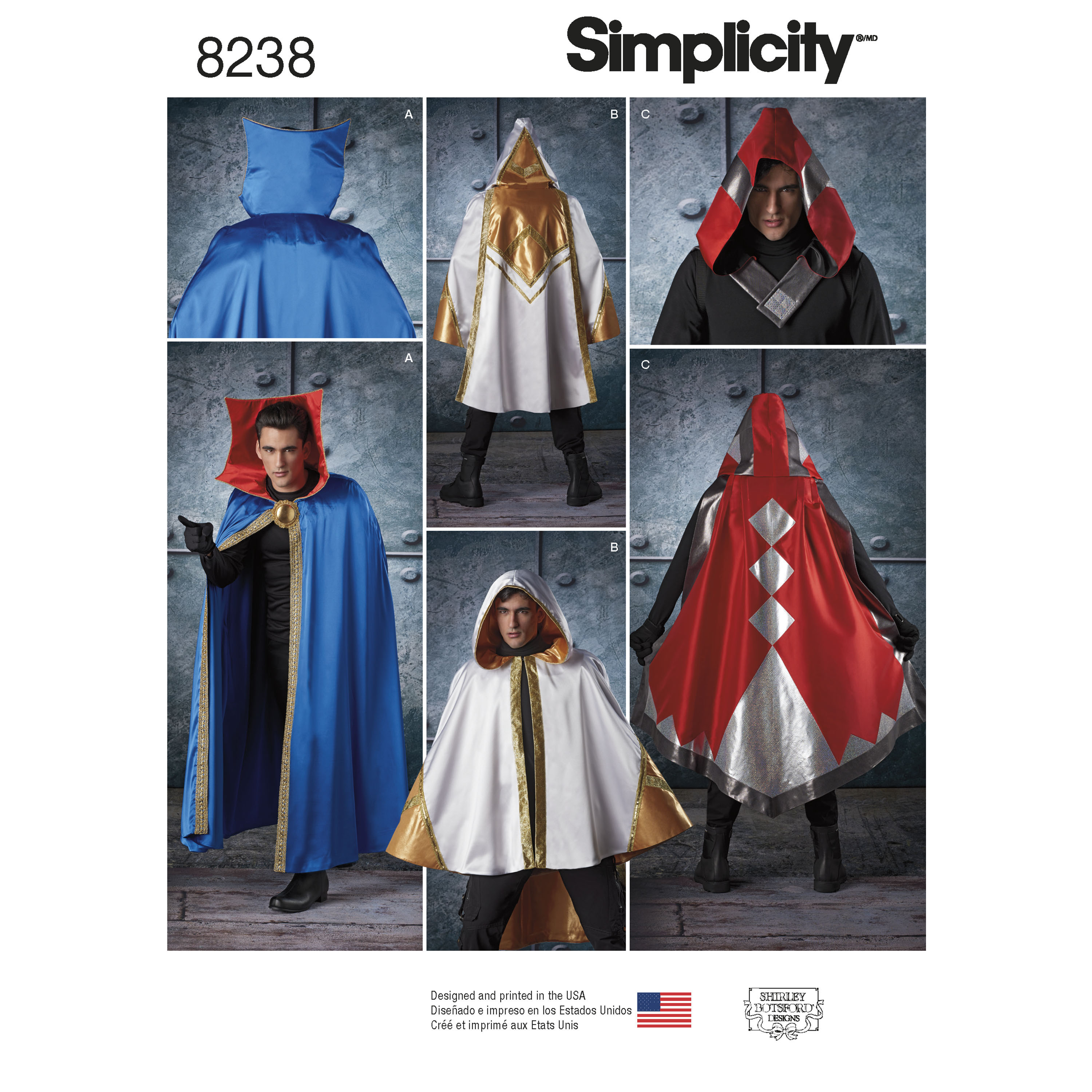 Simplicity 8238 Misses Men S And Teen S Cape Costumes