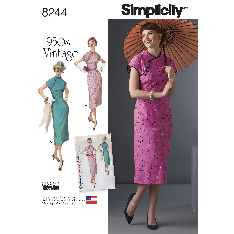 Simplicity 8244 Misses' 1950s Dress