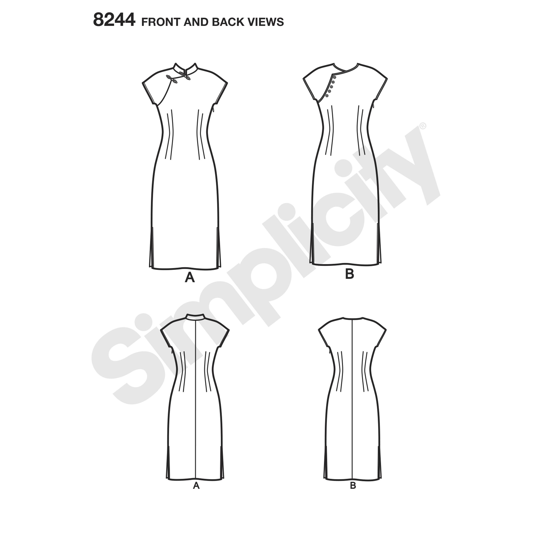 Simplicity 8244 misses 1950s dress prevnext jeuxipadfo Choice Image