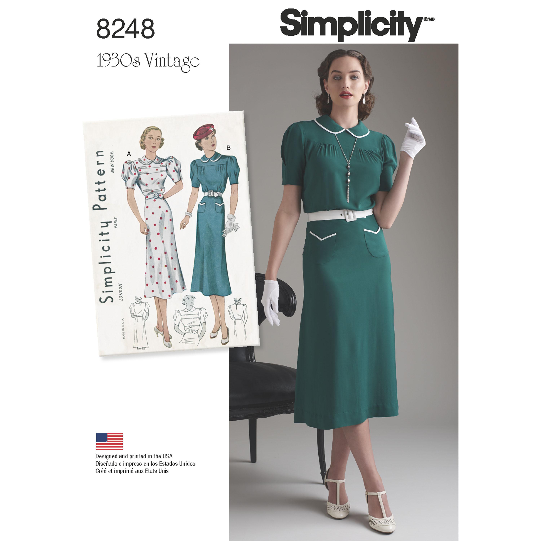 Simplicity simplicity pattern 8248 misses vintage 1930s dresses prevnext jeuxipadfo Choice Image