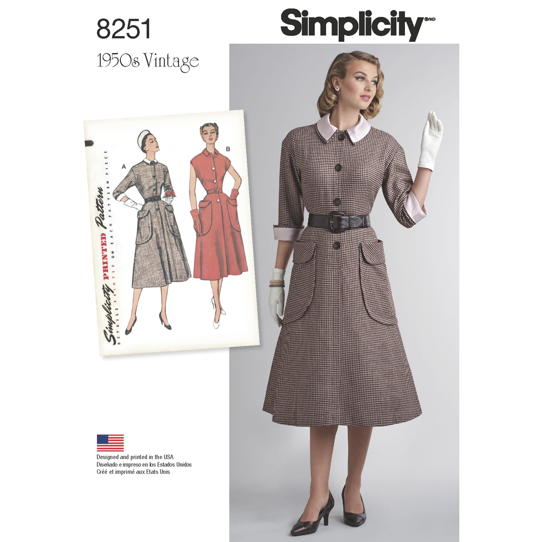 Simplicity Simplicity Pattern 8251 Misses' Vintage 1950's ...