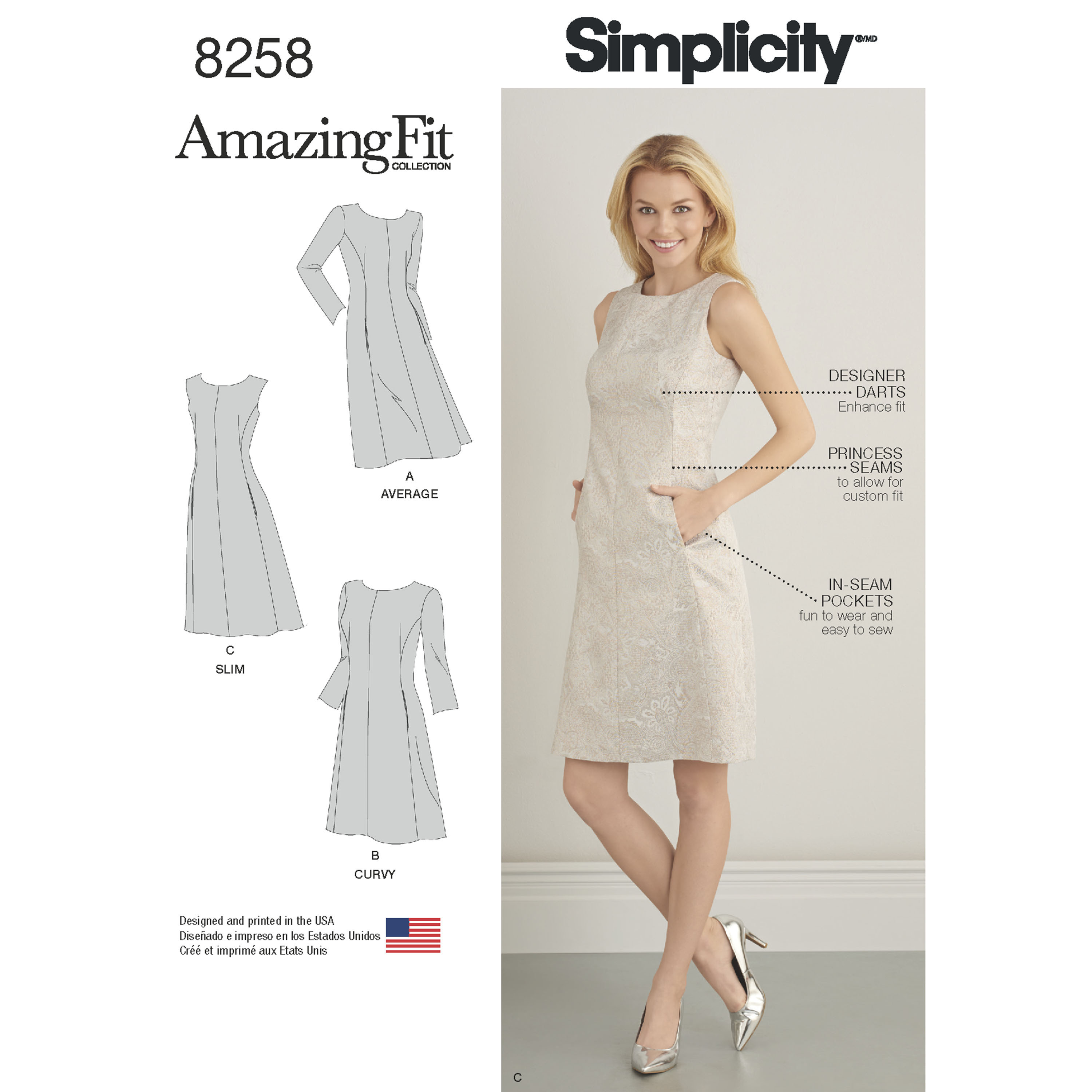 Simplicity Simplicity Pattern 8258 Misses\' and Plus Size Amazing Fit ...