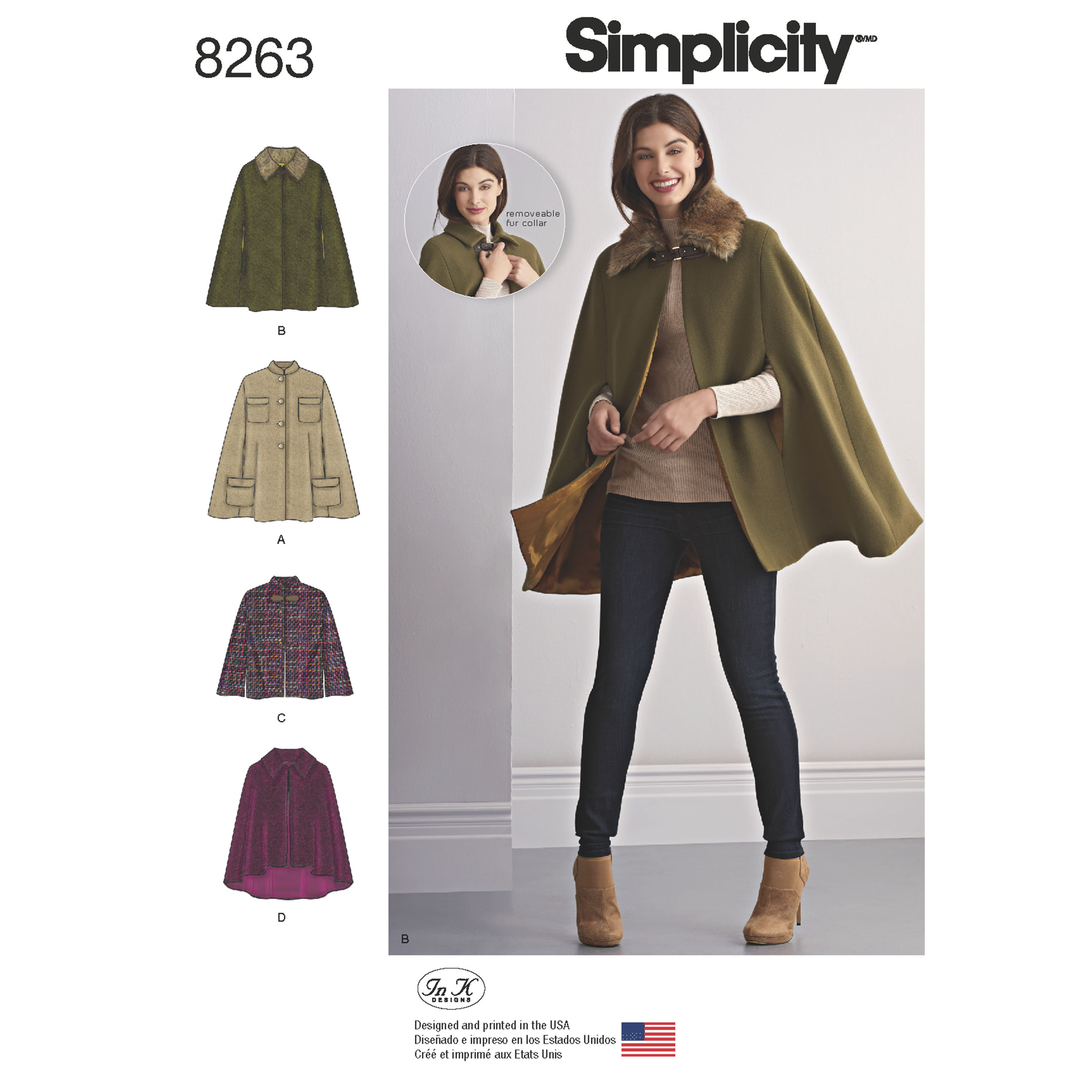 Simplicity Simplicity Pattern 8263 Misses' Capes and Capelets