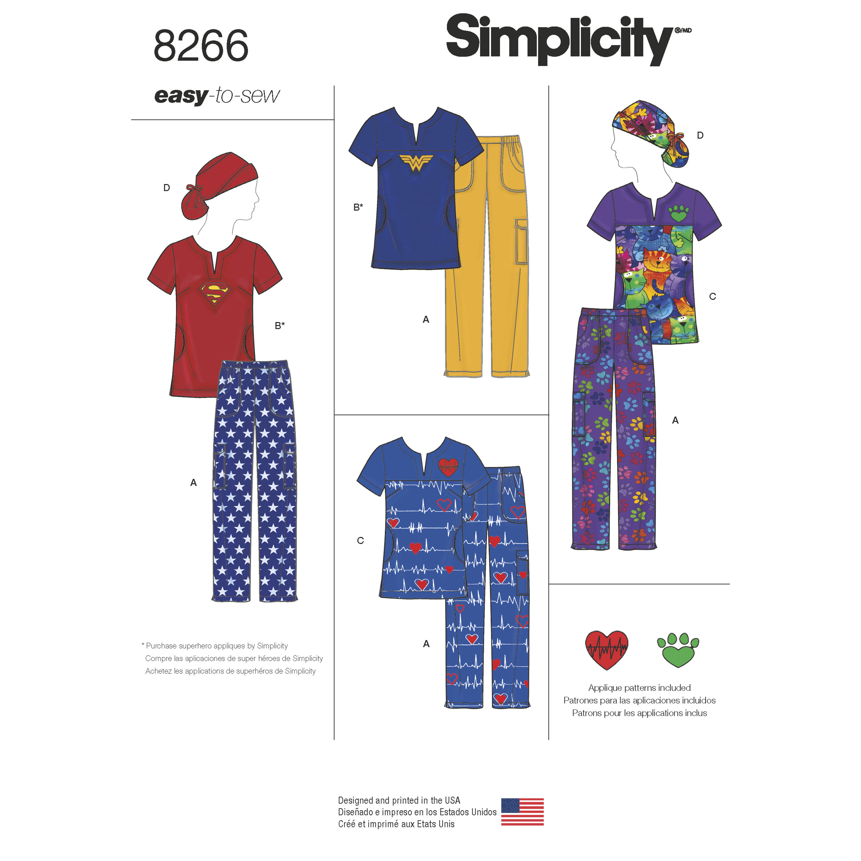 Simplicity Simplicity Pattern 8266 Misses\' Easy to Sew Scrubs with ...