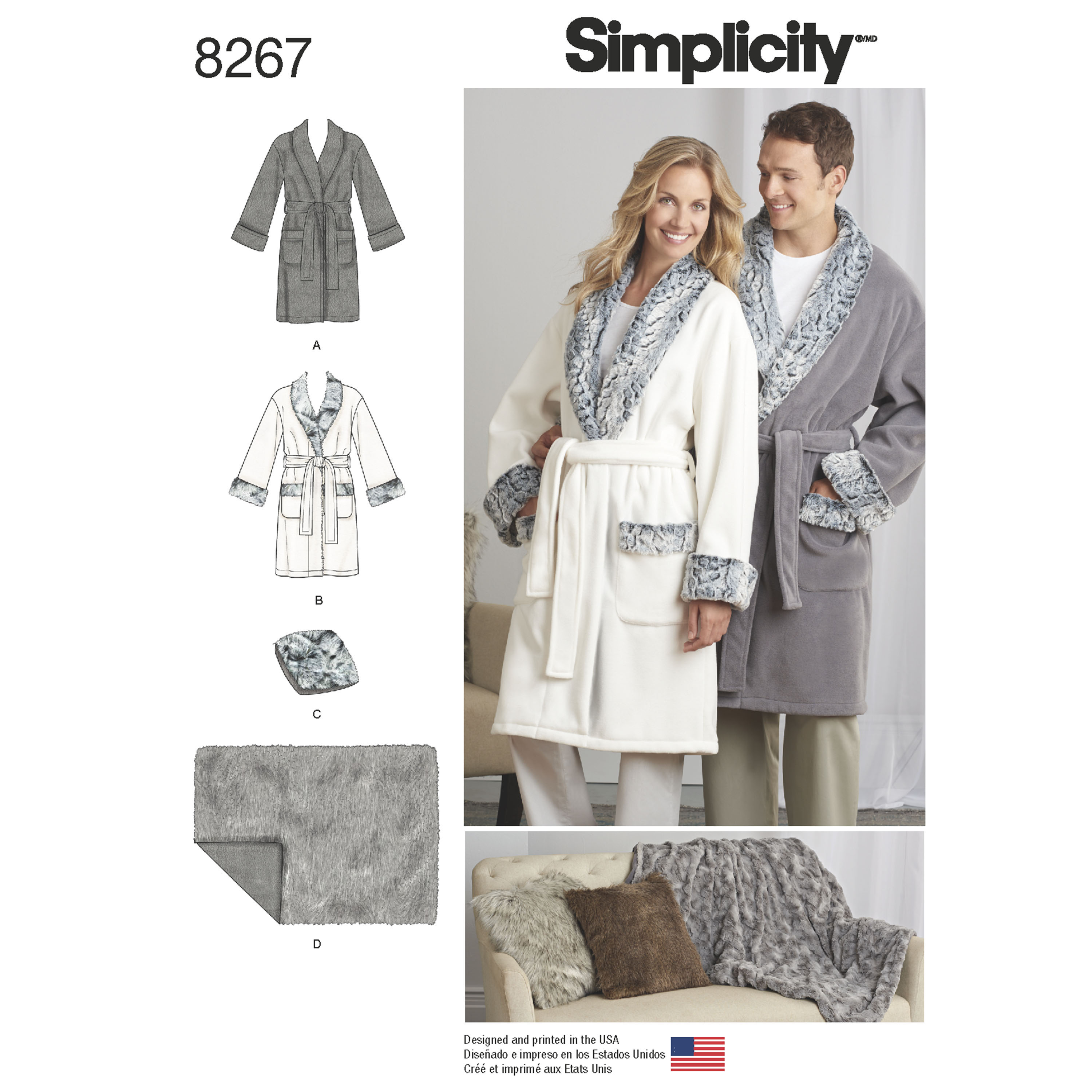 Simplicity simplicity pattern 8267 misses mens and teens robes prevnext jeuxipadfo Gallery