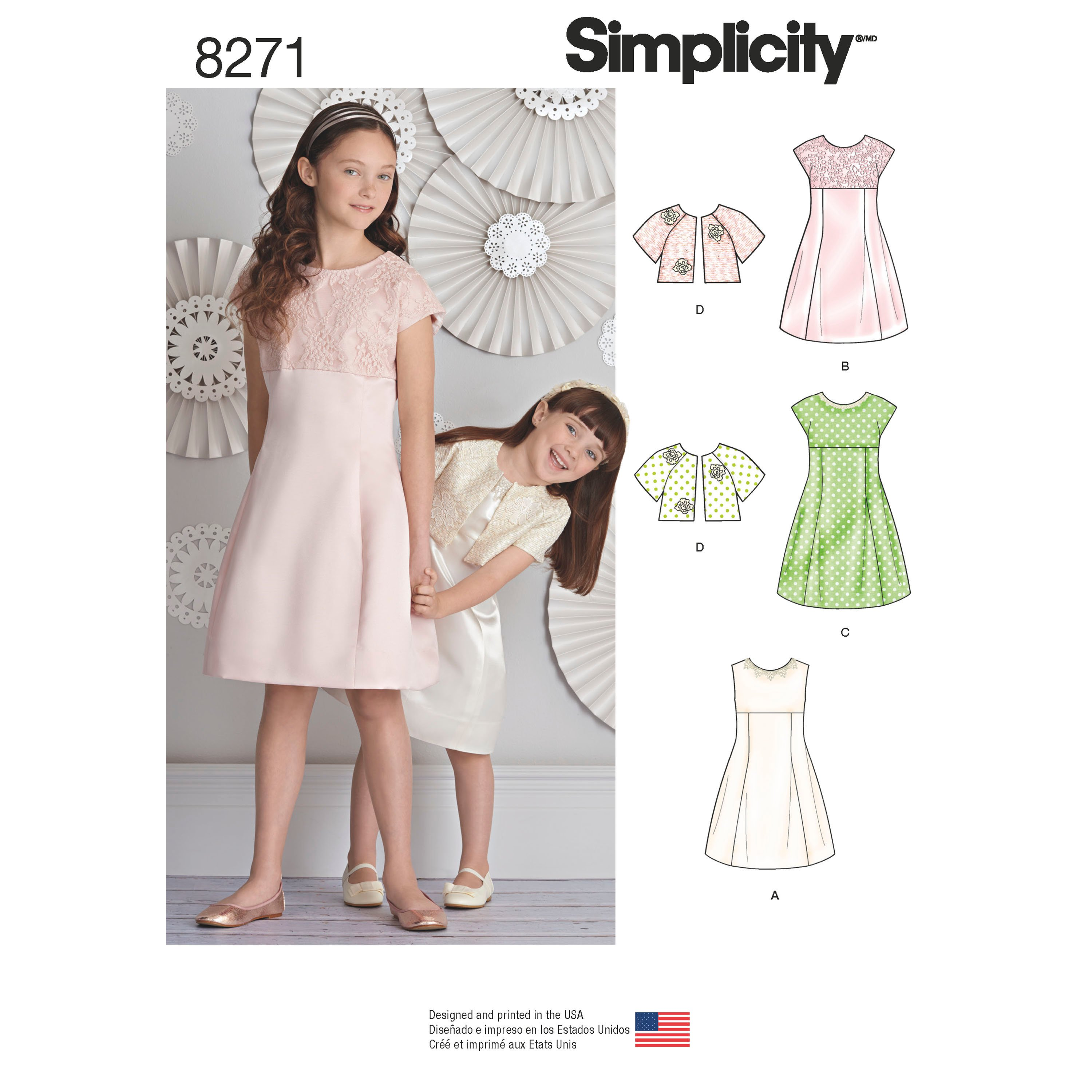Simplicity Simplicity Pattern 8271 Child's and Girls ...