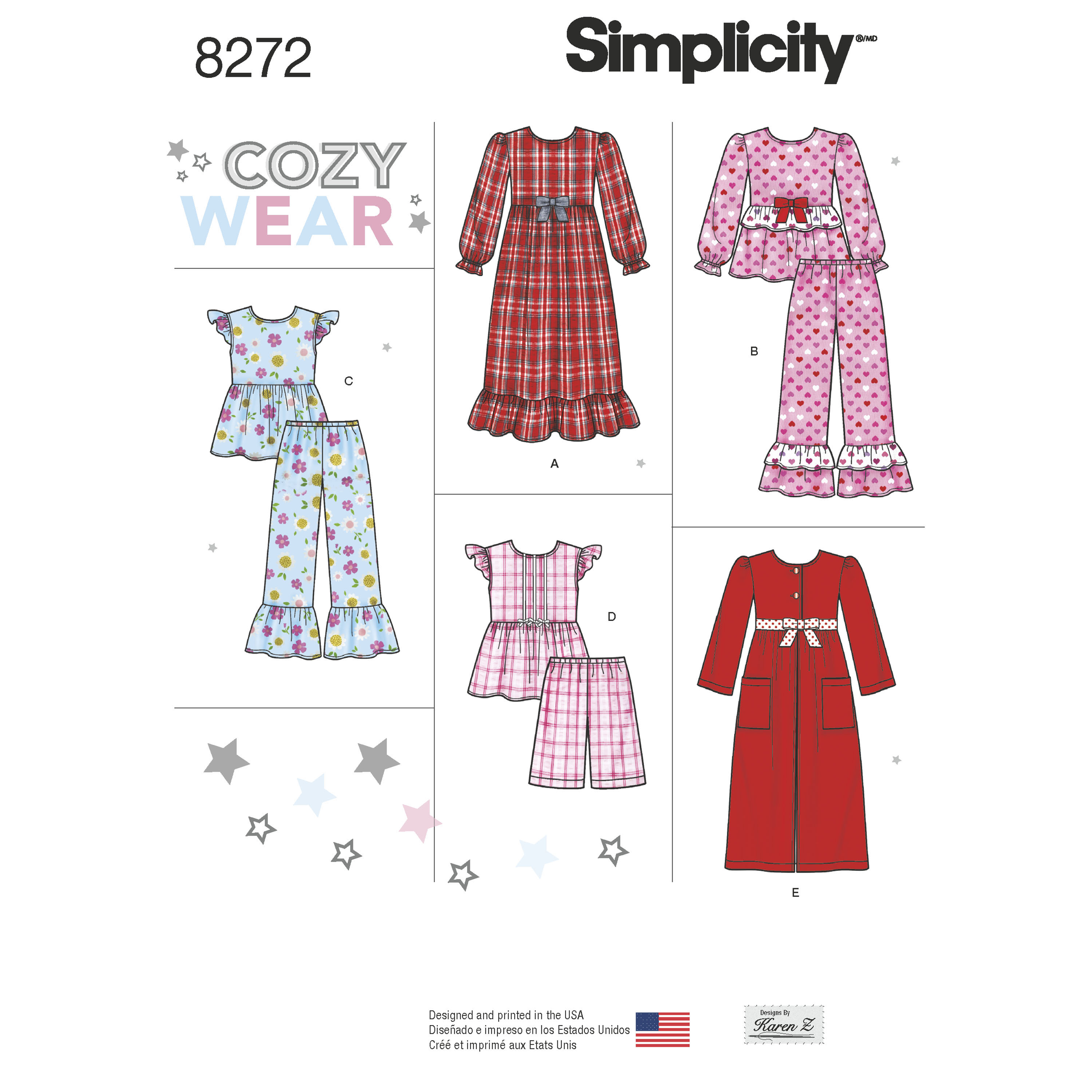 Simplicity Simplicity Pattern 8272 Child\'s and Girl\'s Sleepwear and Robe