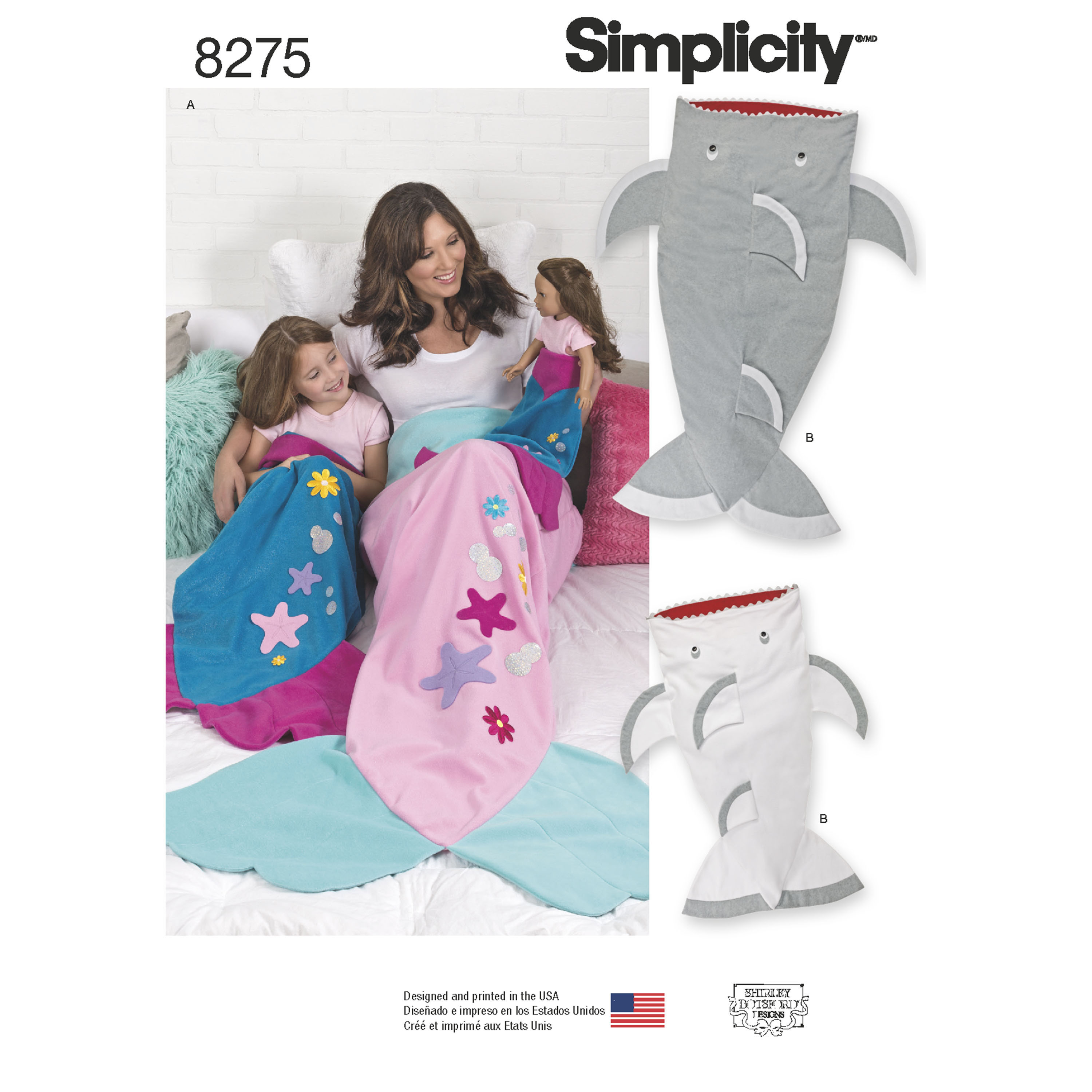 0f53beabe4 Simplicity Simplicity Pattern 8275 Novelty Blankets for Child