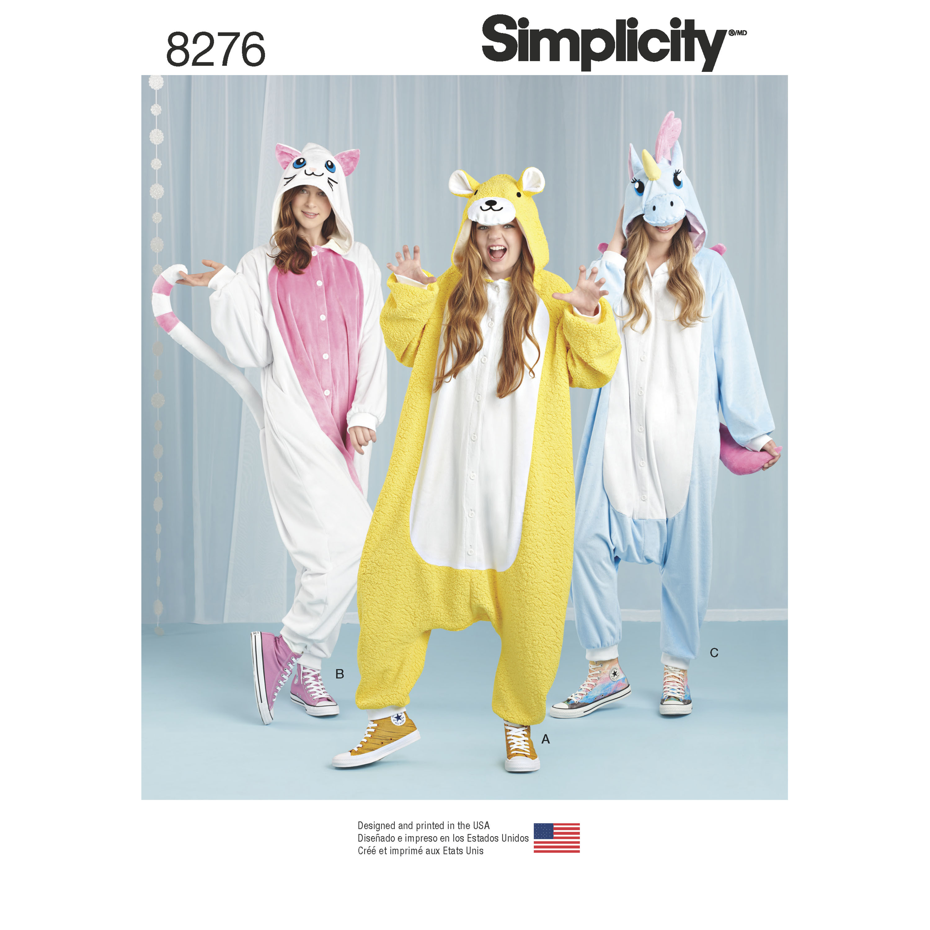 Simplicity Simplicity Pattern 8276 Misses' Animal Jumpsuits