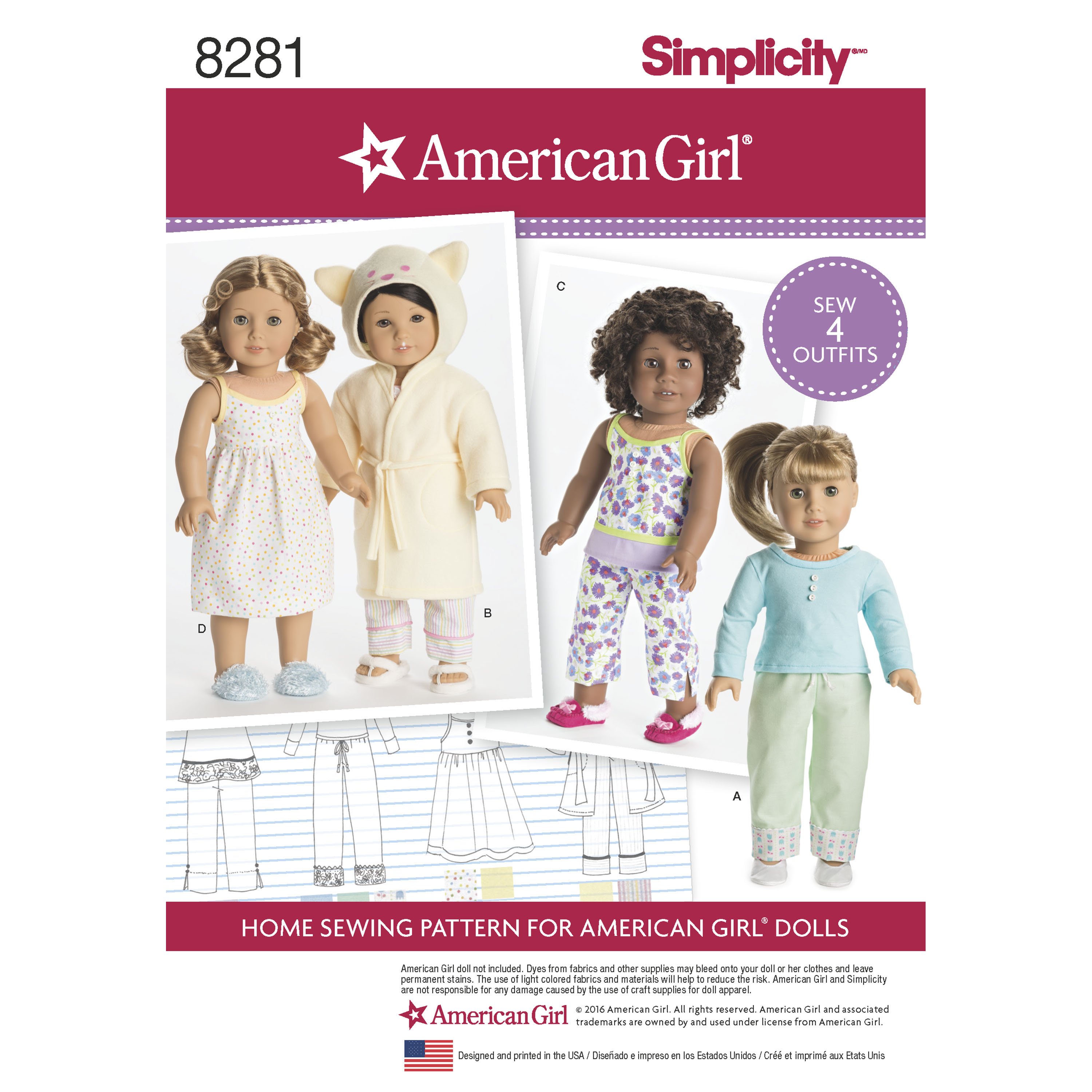 how to make american girl doll clothes patterns