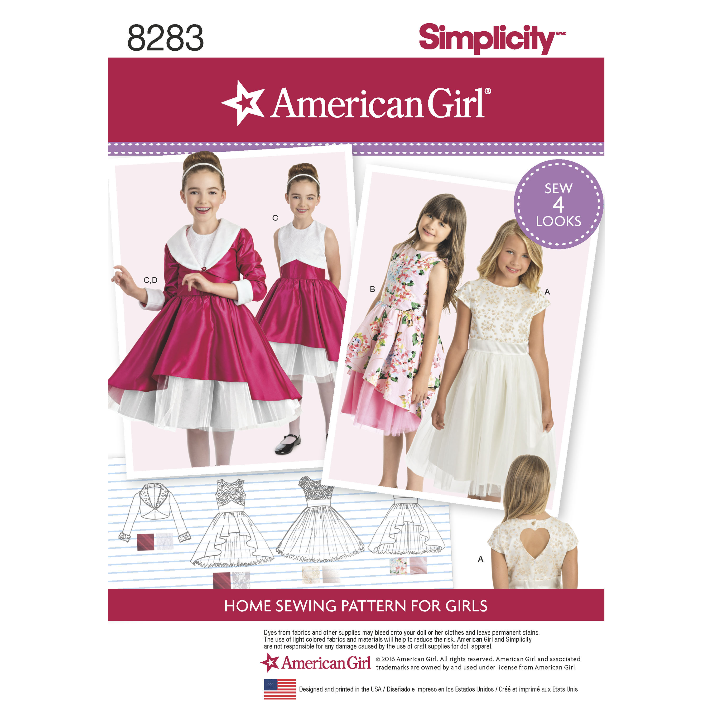 Simplicity Simplicity Pattern 8283 Child's Dress and Lined ...