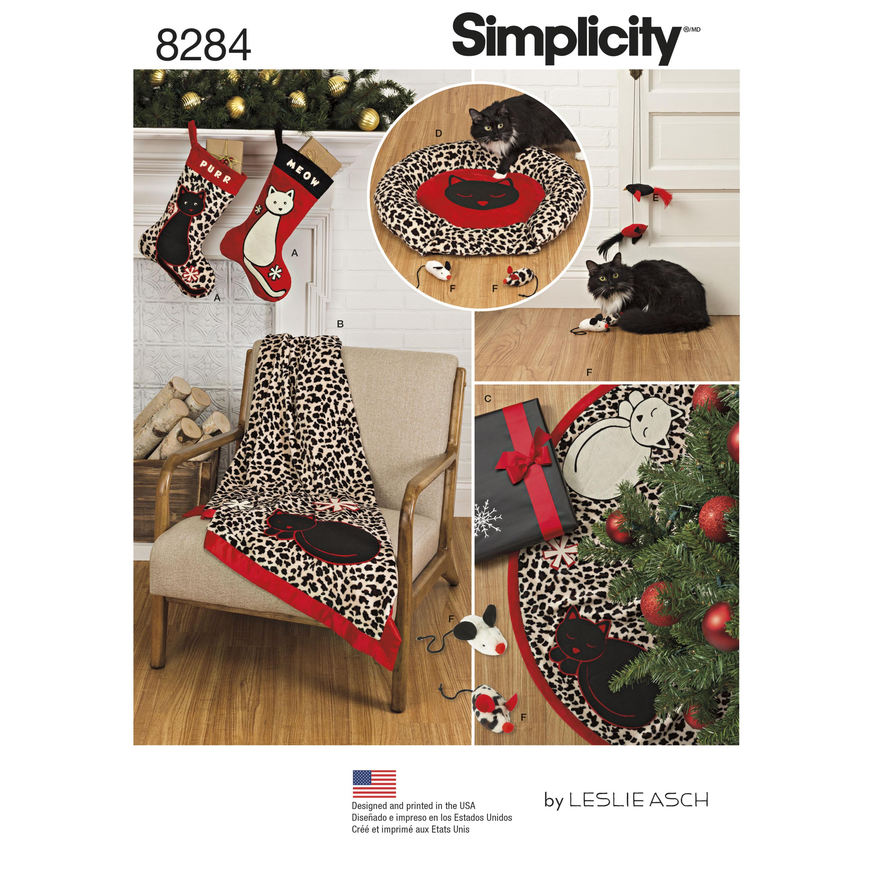Simplicity simplicity pattern 8284 holiday stocking tree skirt prevnext jeuxipadfo Gallery
