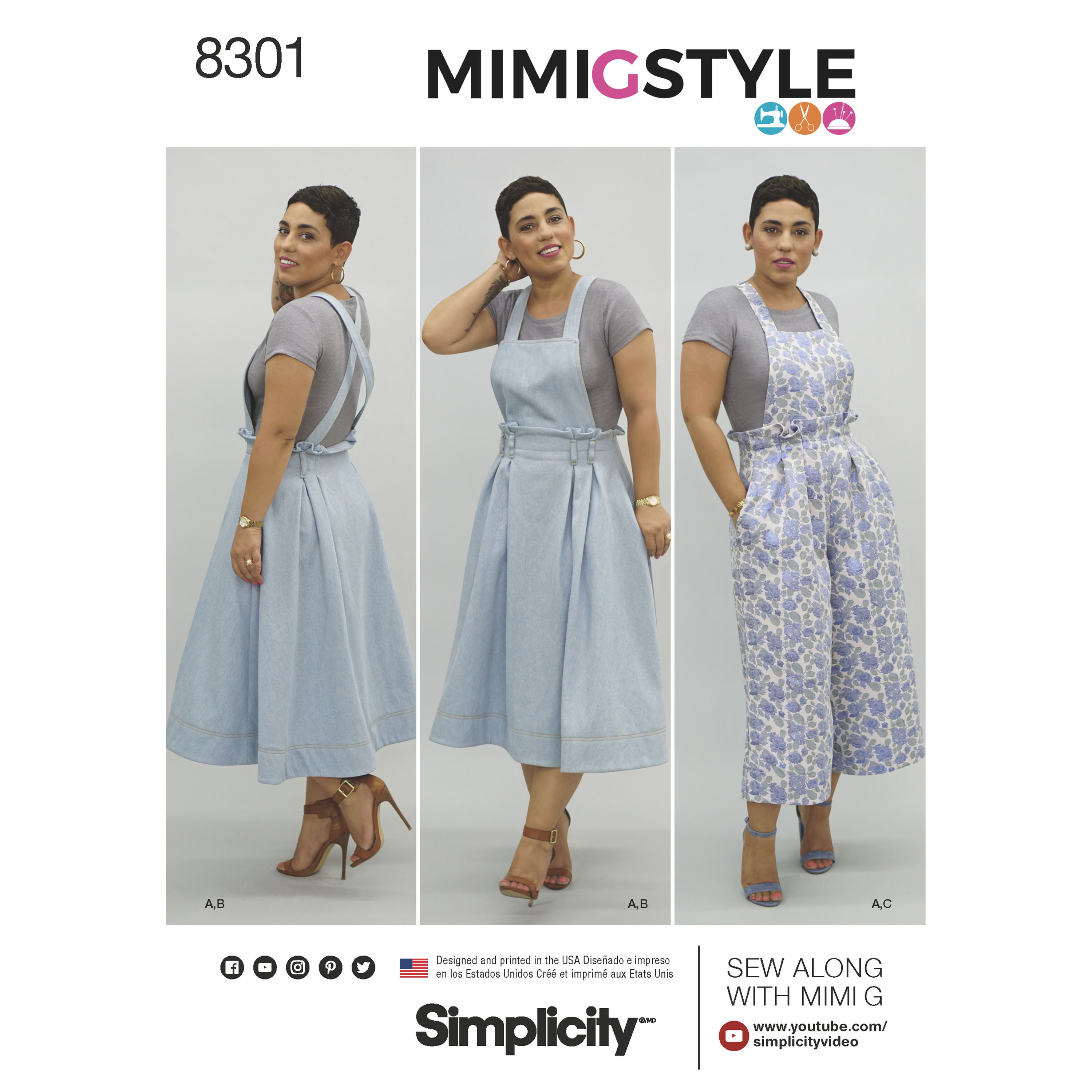 Simplicity 8301 Mimi G Style Misses' Overalls and Knit ...
