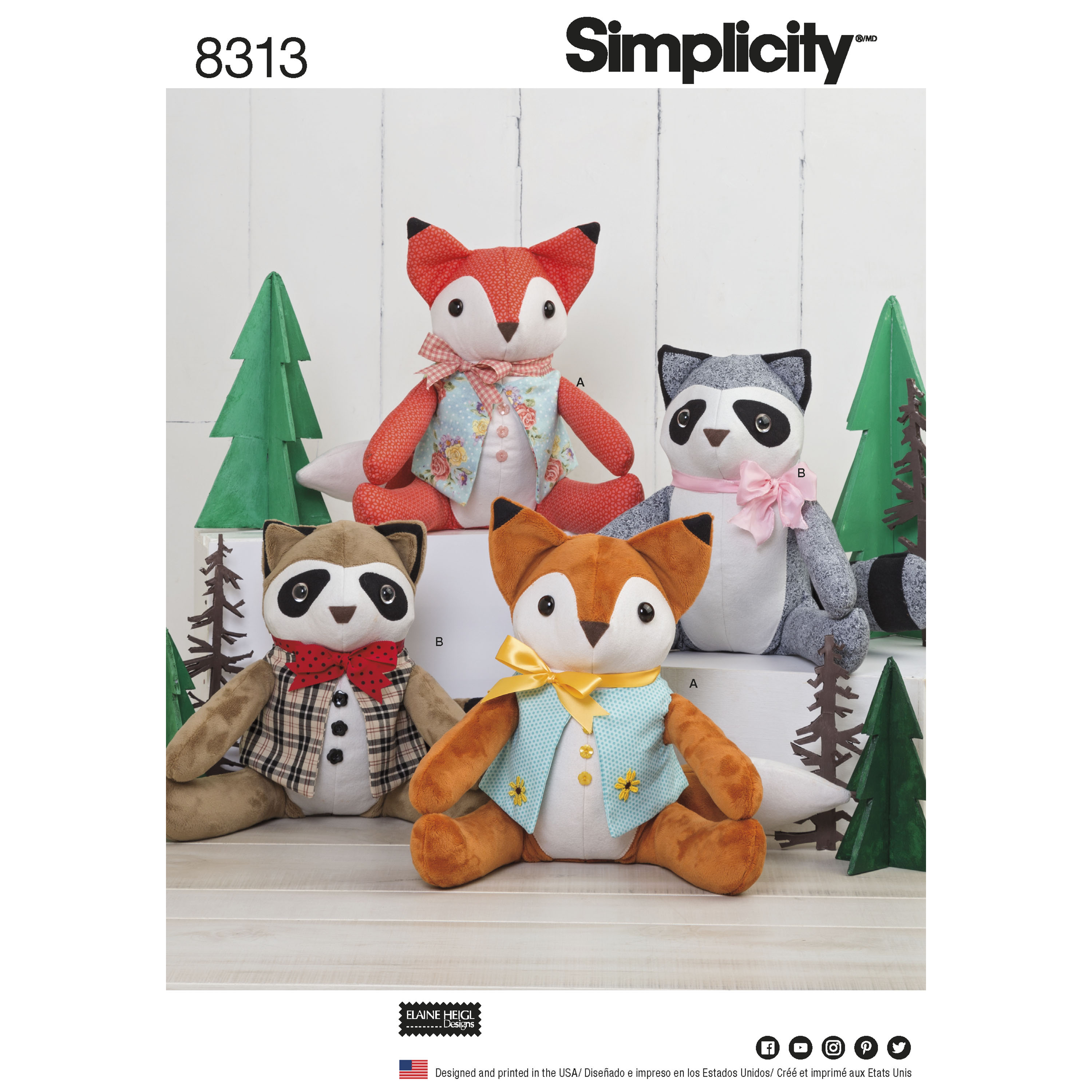 Stuffed Animal Patterns Simplicity Custom Design Ideas