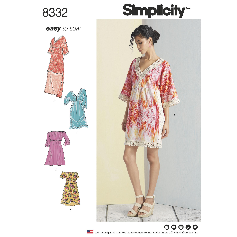Simplicity 8332 Misses' Dresses