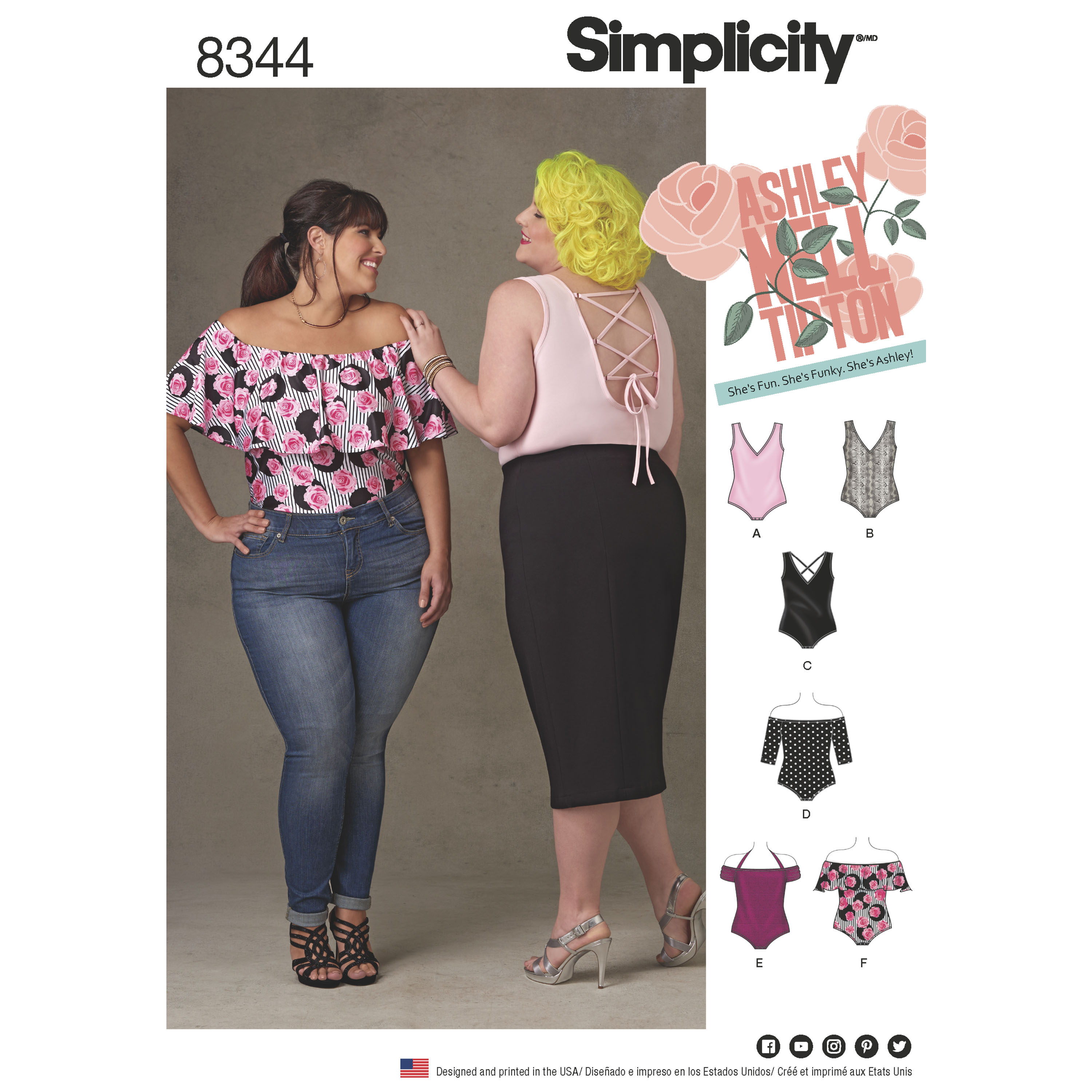 fced55be3f Simplicity 8344 Plus Size Knit Bodysuits by Ashley Nell Tipton