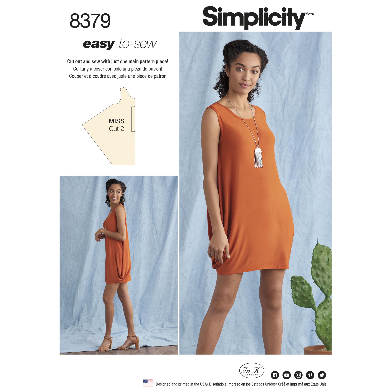 Simplicity 8379 Misses\' Knit Dress