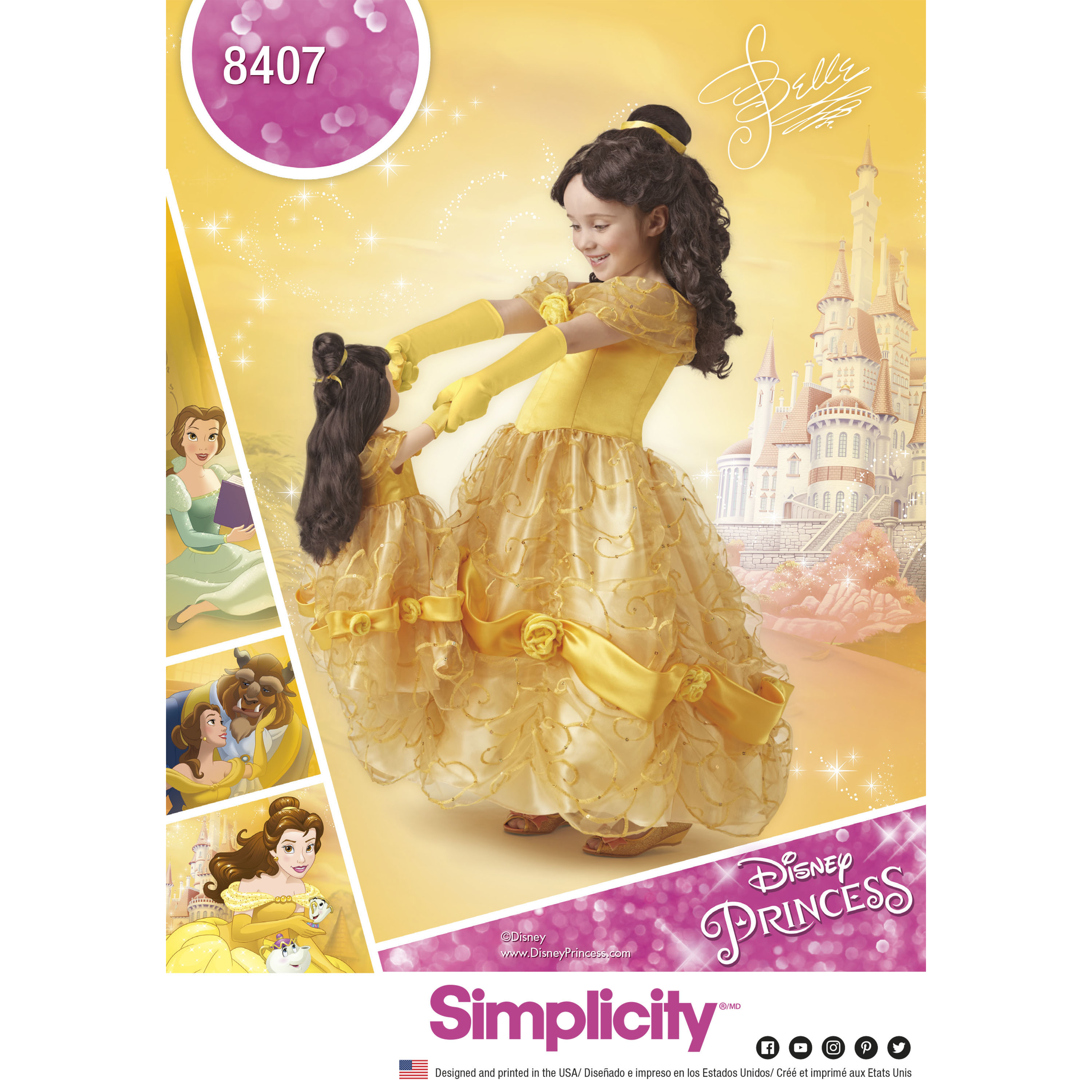 simplicity 8407 disney beauty and the beast costume for