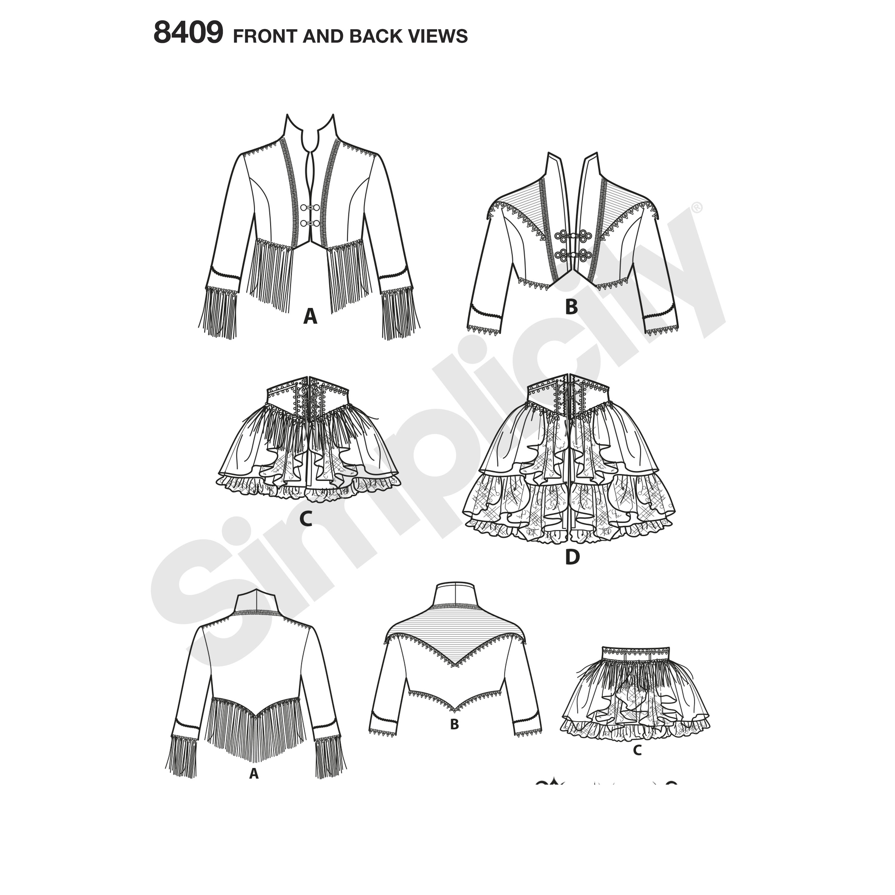 Simplicity 8409 Misses/' Steampunk Costumes     Sewing Pattern