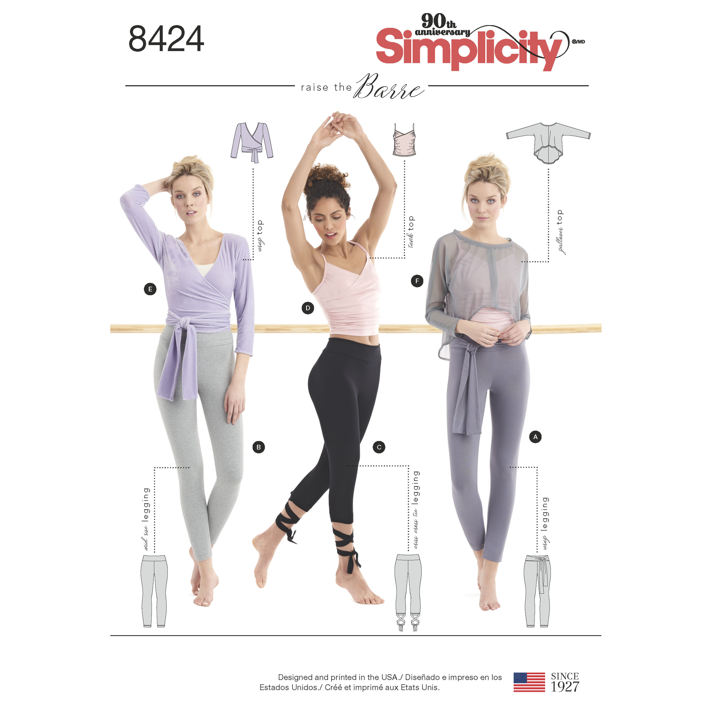 Simplicity 8424 misses knit leggings in two lengths and three top prevnext misses sewing pattern jeuxipadfo Image collections