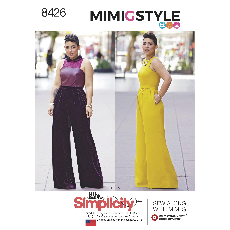 Simplicity 8426 Misses\' & Plus Size Jumpsuit by Mimi G