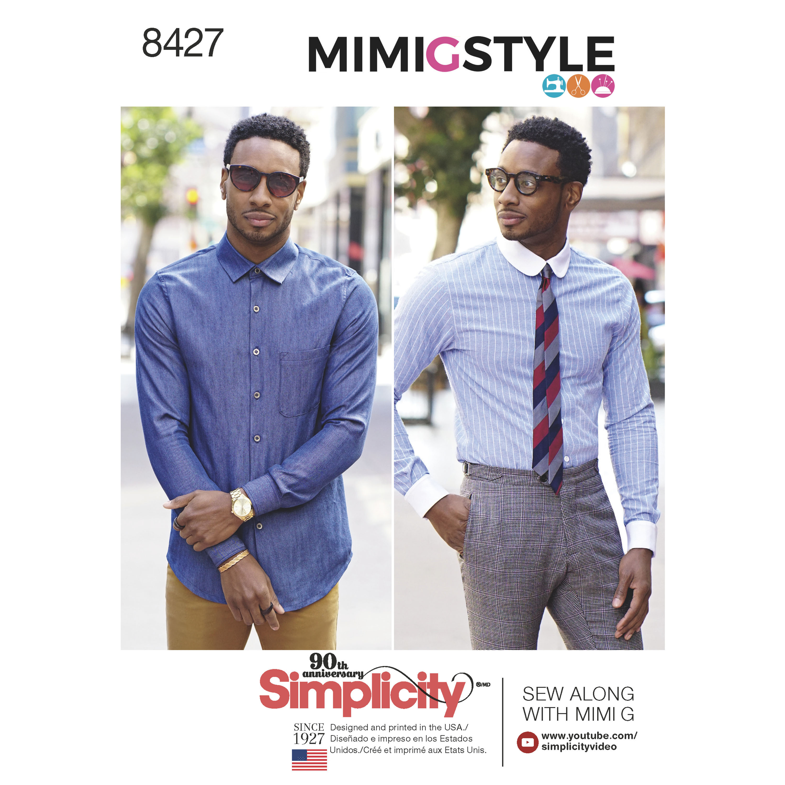 500da670cf8 Simplicity 8427 Men s Fitted Shirt with Collar   Cuff Variations by Mimi G