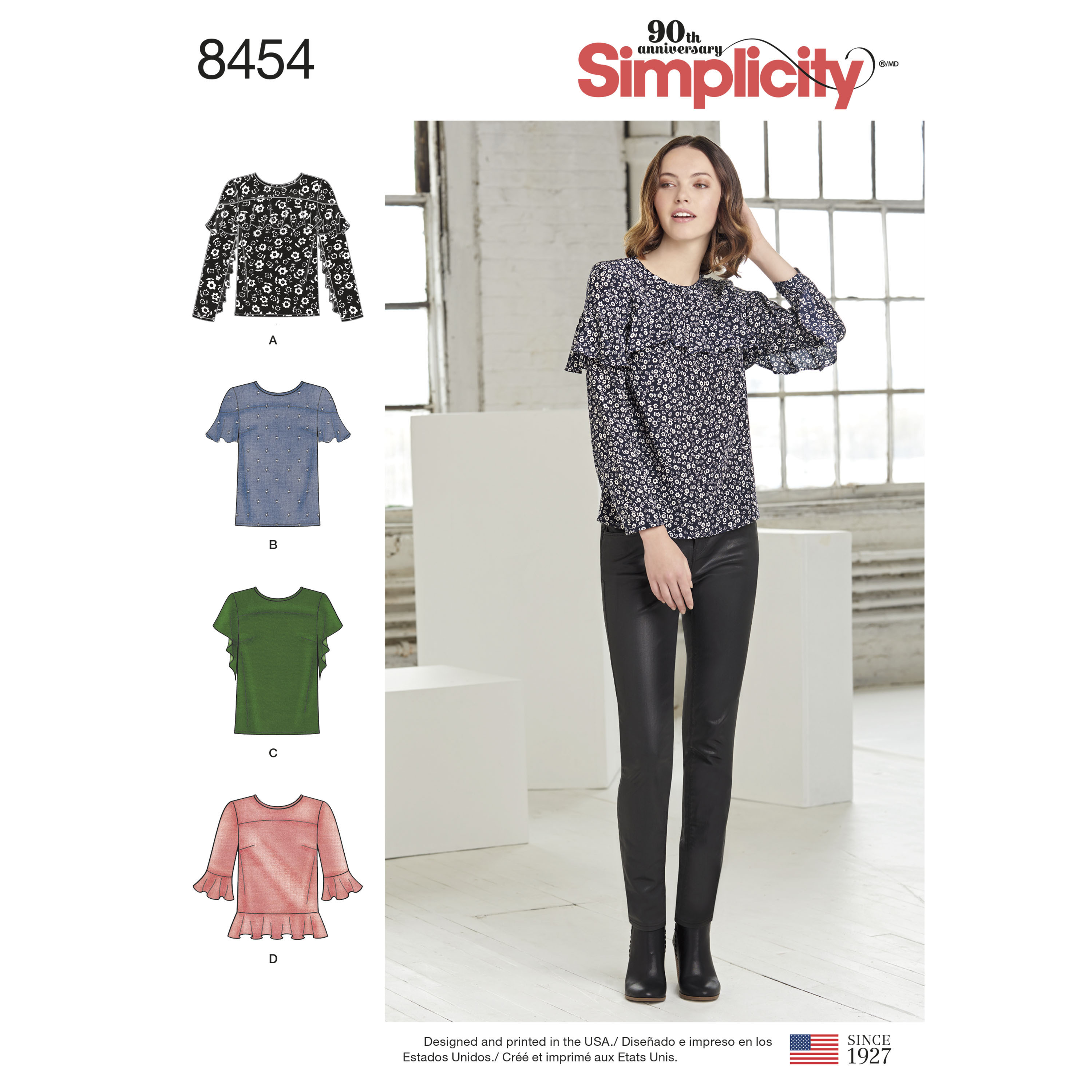 Simplicity Pattern 8454 Misses' Tops with Sleeve and ...